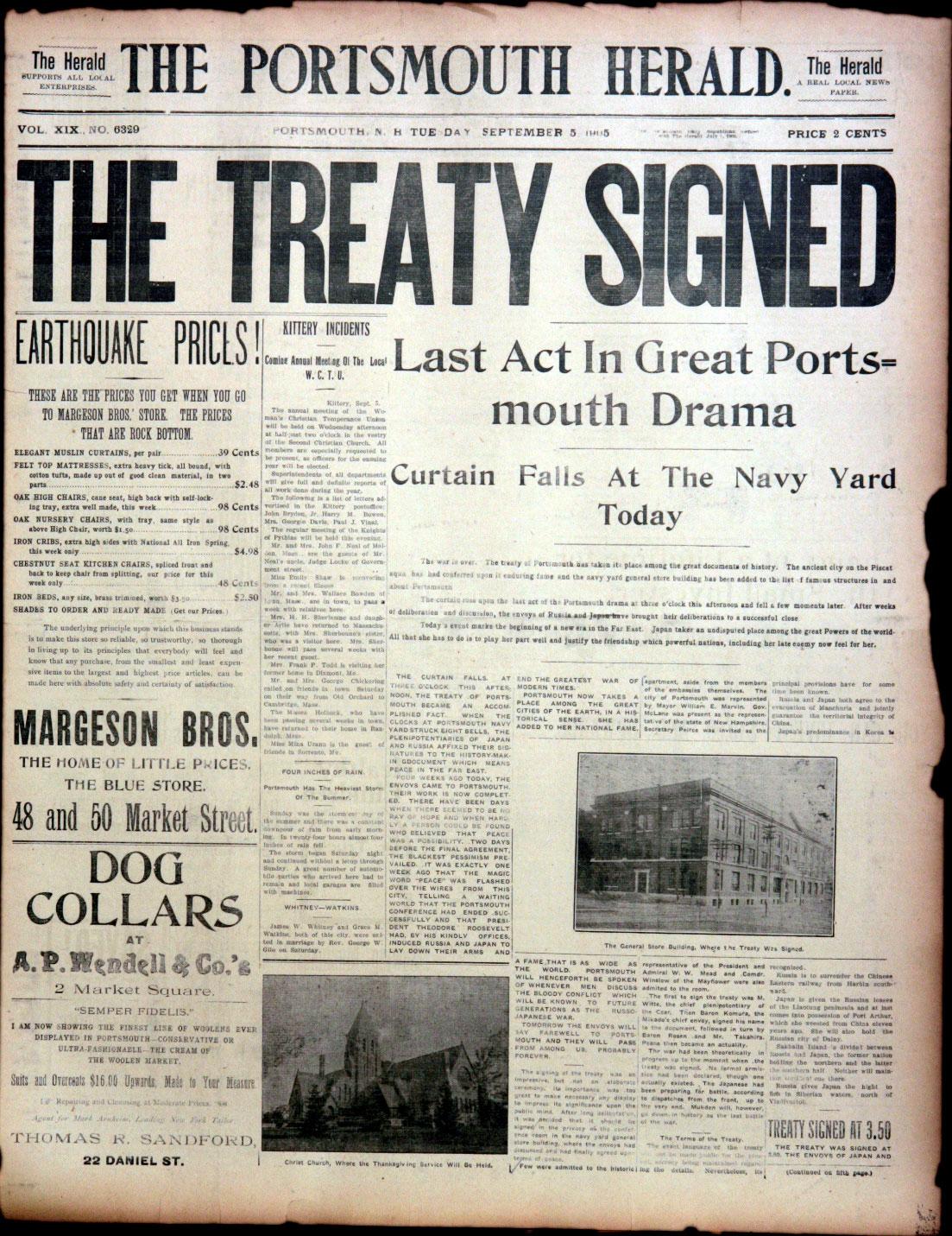 Portsmouth Peace Treaty 1905 2005